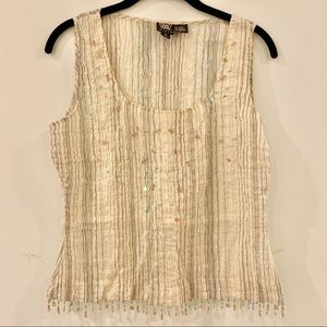 Worth New York camisole crepe and beaded size 10